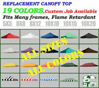 Ez Pop Up Replacement Instant Canopy Gazebo Tent Top Cover Select Color&size