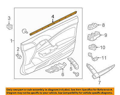 Genuine OEM Ford Mustang Belt Weather-Strip Window Molding Left 8R3Z-6321457-A