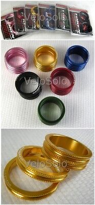 """Anodized Gold 10mm*2 4 PCS 1 1//8/"""" Alloy Headset Spacer 5mm*2"""