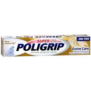 Super PoliGrip Denture Adhesive Cream Extra Care 2.2oz ...