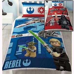 LEGO-STAR-WARS-REVERSIBLE-Conjunto-de-funda-nordica-NUEVO-2-Disenos