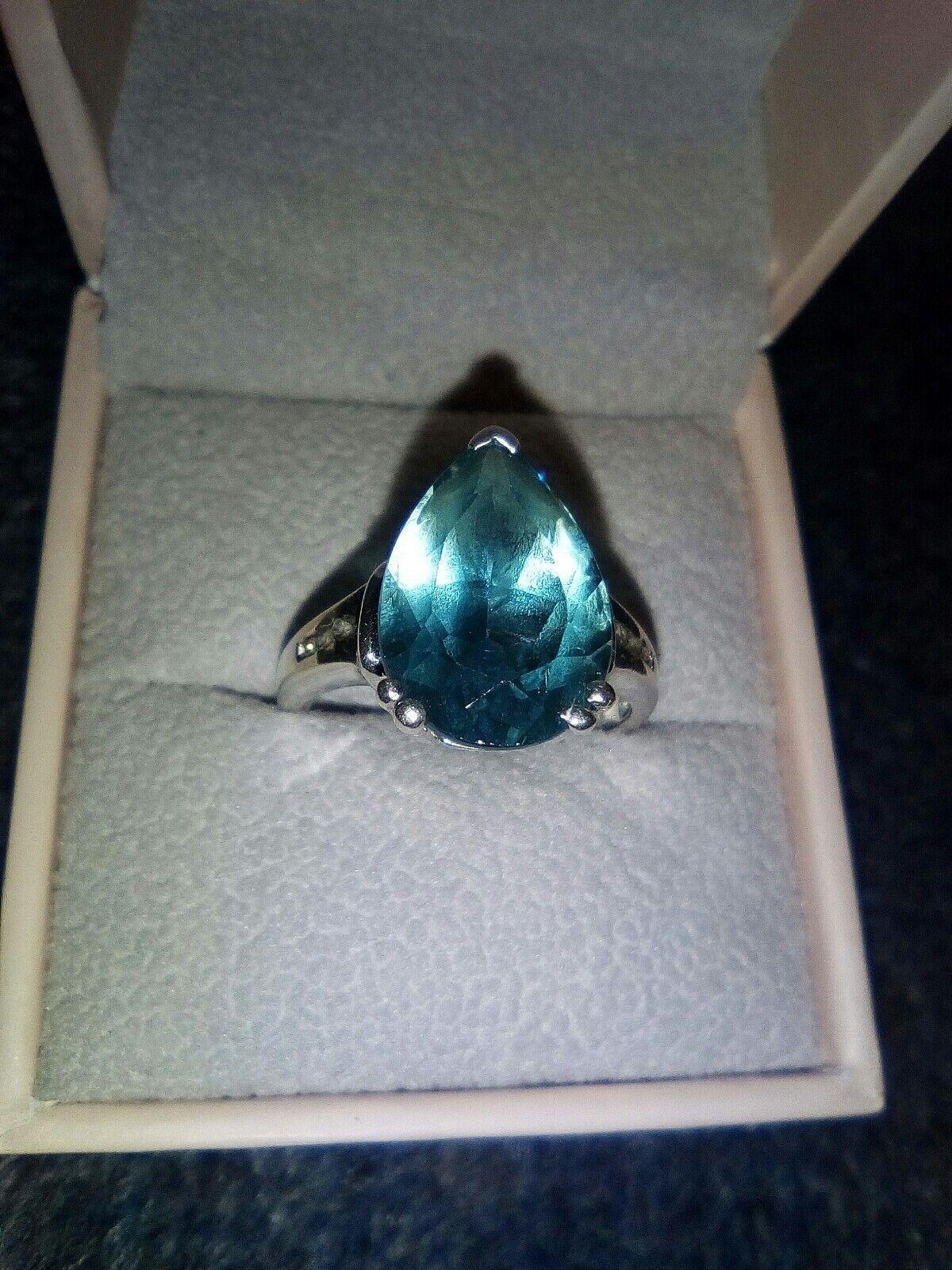 98222e3cc228c bluee Large and white Q size QVC ex ring 925 topaz qzzqf97087632 ...