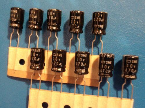 PANASONIC  ELECTROLYTIC CAPACITOR  10v 470uf  85c  QTY = 10