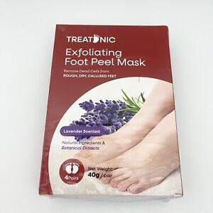 Foot Skin Exfoliating Foot Peeling Mask Treatonic Callus Repair Heels NEW 4 Pair