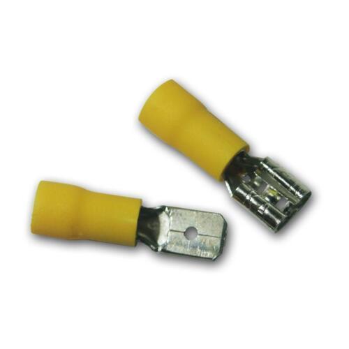 50 Paar Kabelschuhe Stecker /& Buchse gelb 6,3 x 0,8mm für 4,0-6,0mm² Kabelschuh