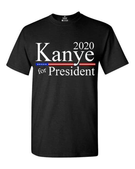 Kanye West For President 2020 Yeezy Merch Yeezus 2020 Presidency T Shirt S-2XL#$