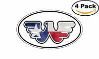 Waylon Jennings Oval Texas Flag Flying W Decal Vinyl Sticker 4 Stickers