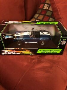 Fast-And-Furious-Ertl-1-18-1965-Shelby-Cobra-New-In-Box-Never-Opened