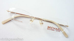 Michael Kors Randlos Brille Brillengestell ohne Rand gold Designer Damen Gr. S.