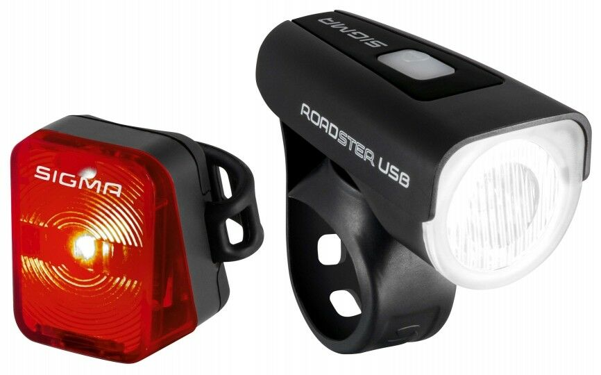 SIGMA ROADSTER LED 25 Lux Beleuchtungsset USB Fahrrad Fahrrad Fahrrad Beleuchtung inkl Akku 220c2a