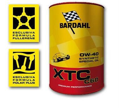 BARDAHL XTC C60 0W40 AUTO POLAR PLUS FULLERENE 1 LITRO