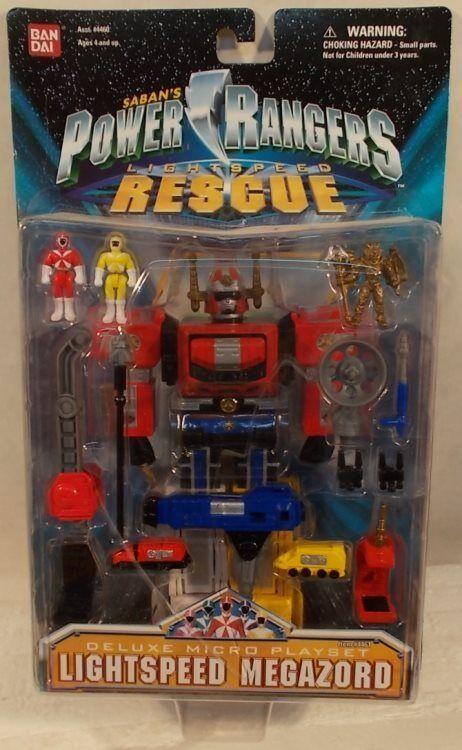 Power Rangers Lightspeed Rescue Deluxe Lightspeed Megazord Micro Playset (MOC)