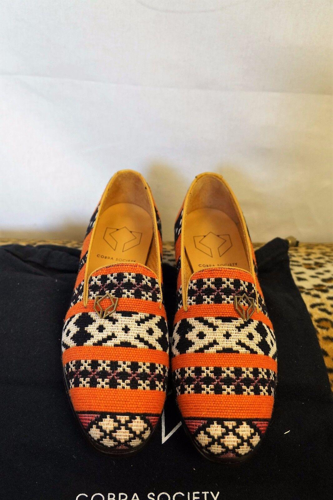 COBRA SOCIETY SOCIETY COBRA Orange Najet Tapestry Loafers 1d49a1