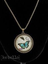 Kette Schmetterling Medaillon Modeschmuck Clayre & Eef Vintage Butterfly