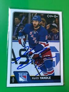 sale retailer 68006 22ed4 Details about New York Rangers KEITH YANDLE Signed O Pee Chee Card