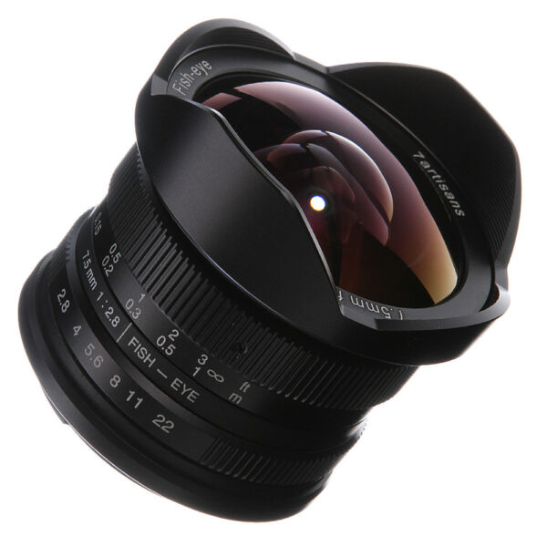 7 Artisans 7.5 Mm F2.8 Manual Focus Grand Angle Fisheye F Canon Eos Ef-m Mount