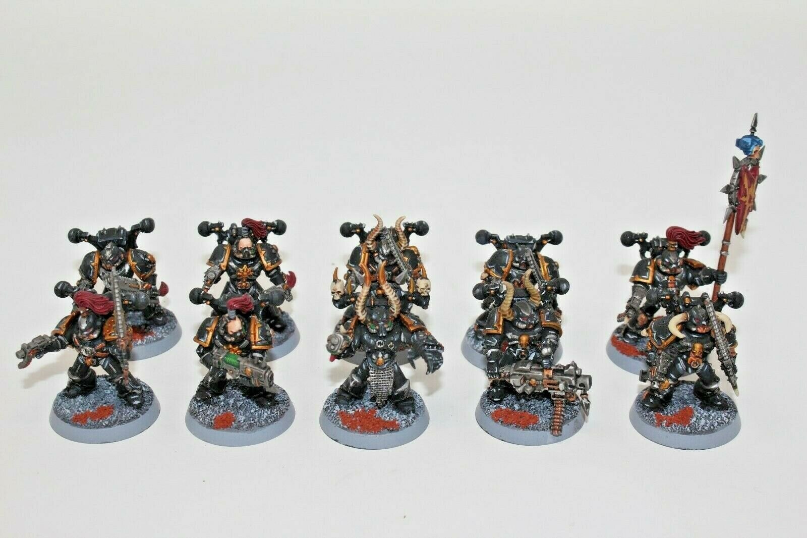 Warhammer Chaos Space Marines Tatical Squad Well Painted