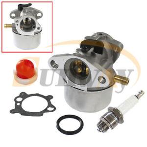 Carburateur-et-Bougie-d-039-Allumage-pour-Briggs-amp-Stratton-799868-498170-497586