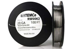 TEMCo-Nichrome-60-series-wire-20-Gauge-100-Ft-Resistance-AWG-ga