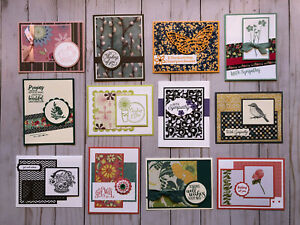 12-Handmade-Sympathy-Get-Well-Thinking-of-You-greeting-cards-env-Stampin-039-Up