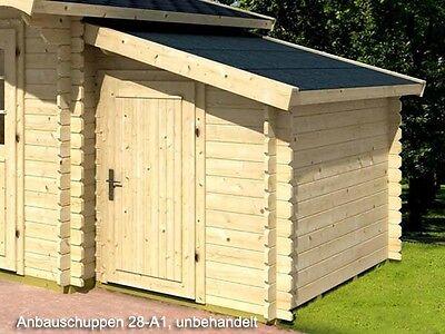 Gartenhaus Anbauschuppen 28-A1, Größe 1,60 x 2,20 m Abstellraum Holz