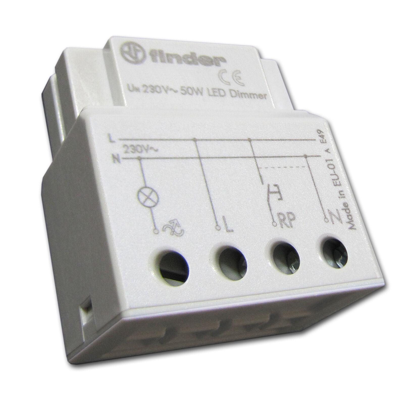 LED Dimmer Einsatz 3-50W 230V 12V passt in UP Schalterdose 60mm o. Hohlwanddose     Professionelles Design    Clearance Sale    Verschiedene Stile und Stile