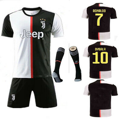 19-20 Football Kits Soccer Outfits Short Sleeve Team Suit Kids 3-14Yrs Socks