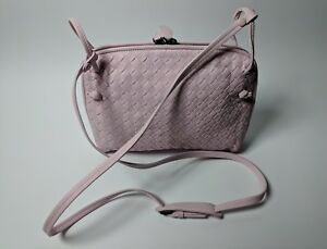 Image is loading BOTTEGA-VENETA-Nodini-Intrecciato-Woven-Pink-Nappa- Crossbody- 5dee12169b21f