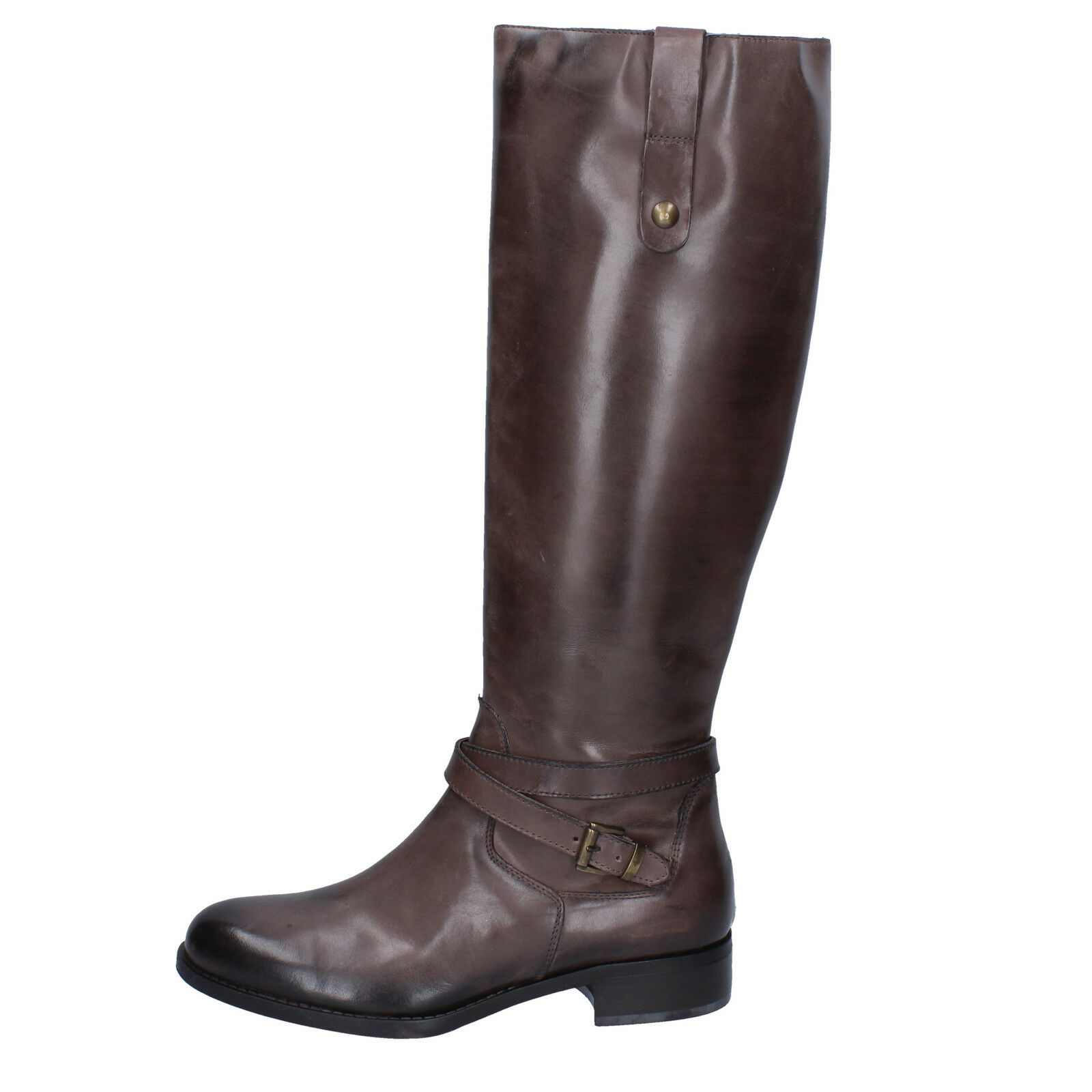 Zapatos especiales con descuento scarpe donna KAMMI 36 stivali beige scuro pelle BX432-36