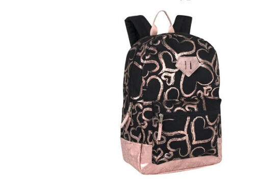 New Metallic Hearts Backpack Black