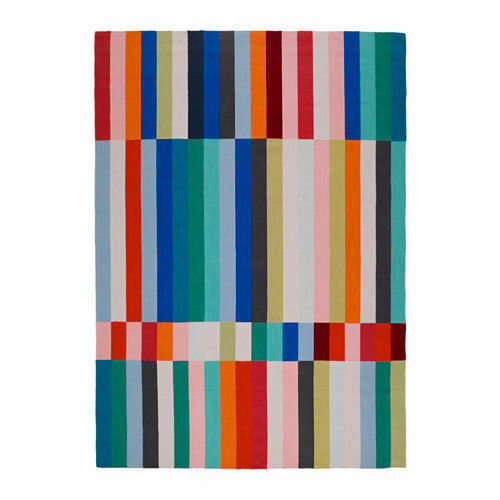 IKEA Brand New XXL Rug,Flatwoven HALVED Handmade,Multicolour,170x240 cm,Wool Mix