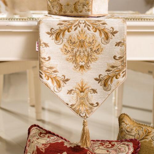 Premium 3 Colour Classical Table Runner Wedding Party Banquet Decor # ZQ38PT