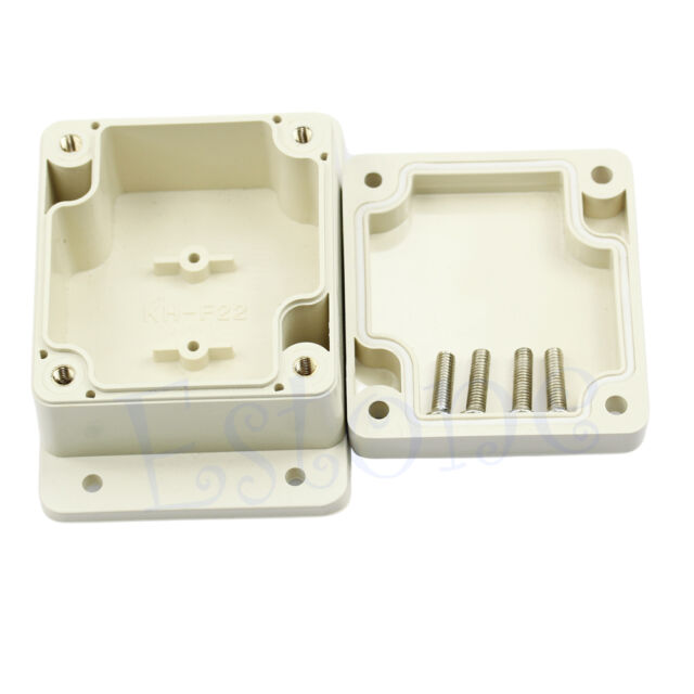 "Waterproof Electronic Project Plastic Box Enclosure Case 2.56""L x 2.28""W x1.38""H"