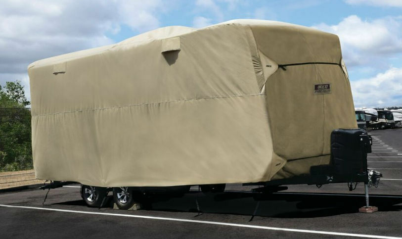 ADCO 74845 Travel Trailer Storage  Lot RV Cover 28'7  - 31'6   unique design