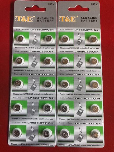 lot de 10 piles alcaline AG4 LR626,377 1,55V² TOP PROMO !!!!!!!!!!!!!!!!!