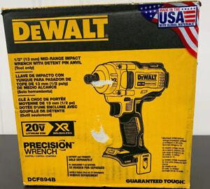 "DCF894B DEWALT 20V MAX XR 1//2/"" Mid/_Range Impact Wrench Detent Pin Tool-Only"