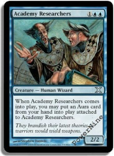 4 Academy Researchers ~ Blue Tenth 10th Edition Mtg Magic Uncommon 4x x4