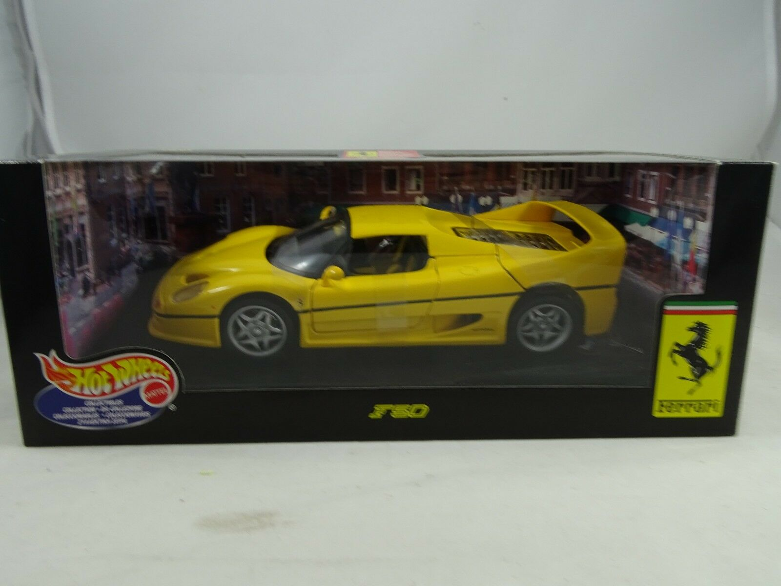 1 18 Hot Wheels Ferrari F50 Yellow - Rarity