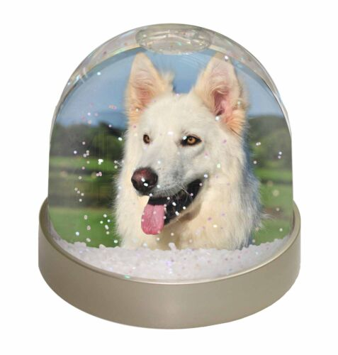 AD-WGSD2GL White German Shepherd Dog Photo Snow Globe Waterball Stocking Filler