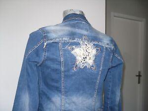 veste-en-jean-de-marque-taille-XS-34-36-blouson-manteau-blazer-jacket-fille-femm