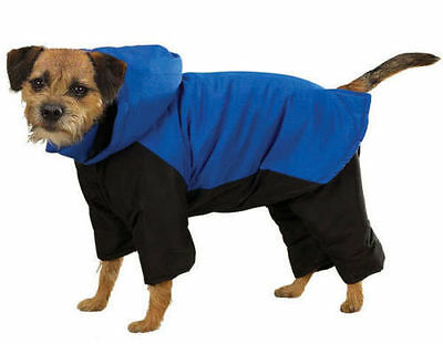 SNOWSUIT DOG Ski Jacket Snow Winter Coat with Removable Legs & Hood Nylon Blue