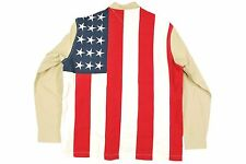 NWT MENS m Tommy Hilfiger Jeans Button Up Shirt USA FLAG Patriotic July 4 $65