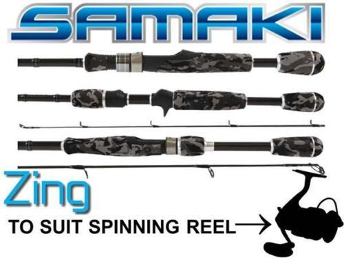 """Samaki Zing Spin 6/'10/"""" SZG-6101SL 1 piece Graphite Fishing Rod 4-8Lb NEW LastOne"""