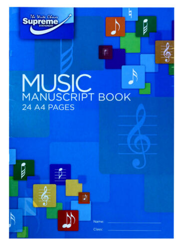 Music Manuscript Book Writing Music Theory Note Song 12 Staves Piano 24 Pages