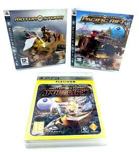 Lot-3-jeux-serie-Motorstorm-PS3-Playstation-3-Pacific-Rift-Apocalypse