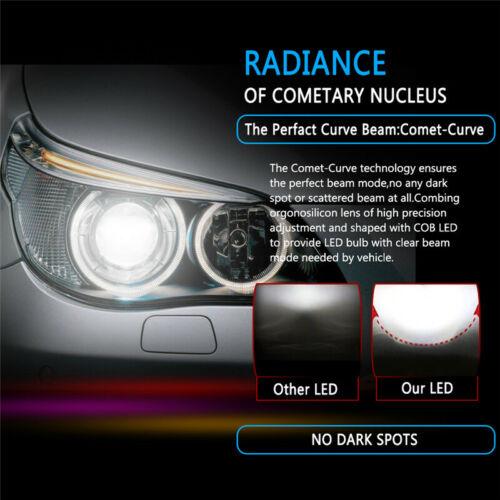 2PCS Car LED Headlight C6 H8 H9 H11 72W Lamps 6400LM 6000K COB Bulbs Light Kit