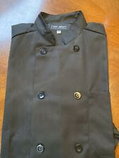 New Ladies Black Chef Coatjacket Size M By Neil Allyn Career Apparel Nice
