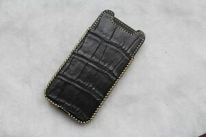 Genuine-Crocodile-Leather-Skin-Pouch-Case-Cover-For-Iphone-XS-Iphone-XS-Max