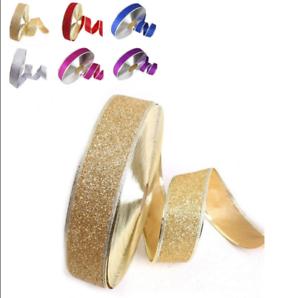 2M Christmas Ribbon Glitter Ribbon Holiday Party Decor Xmas Gift Wrapping Bag