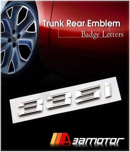 BMW E90 E92 F30 Chrome Letter Trunk Lid Rear Emblem Badge Letters 335i 335 i